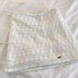 Hollister mini skirt white soft cotton